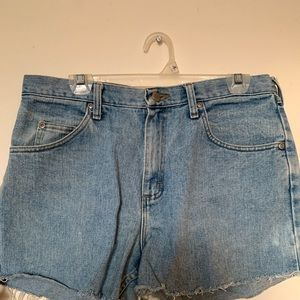 Vintage Wrangler denim shorts.